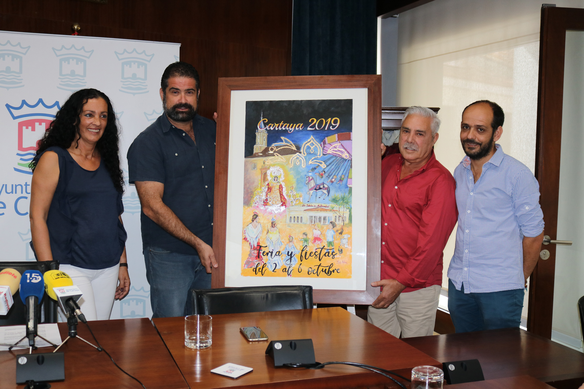 Presentación del cartel de la Feria de Octubre y las Fiestas Patronales en honor a Ntra. Sra. la Virgen del Rosario de Cartaya.