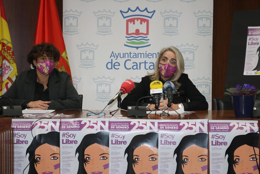 El Ayuntamiento de Cartaya presenta las actividades del 25-N en la localidad.