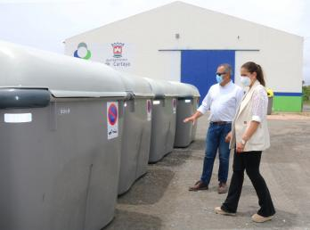 Cartaya renueva la flota de contenedores con la adquisición y colocación de un total de 80, la mayoría de gran capacidad.
